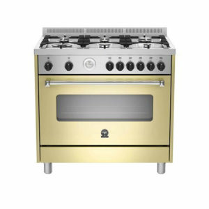 La Germania AMERICANA Cream Dual Fuel Gas/Electric Stove