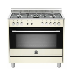 La Germania EUROPA 90cm Cream Dual Fuel Stove