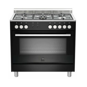La Germania EUROPA 90cm Black Dual Fuel Stove