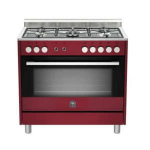La Germania EUROPA 90cm Burgundy Dual Fuel Stove