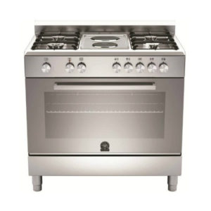 La Germania EUROPA 90cm Stainless Steel Stove: 4 Gas & 2 Elec Hob Electric Oven