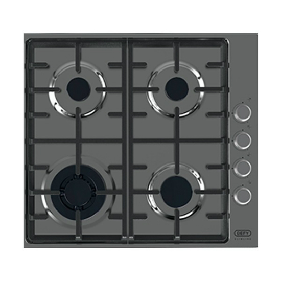 Defy Slimline Gas Hob Side Control (Stainless Steel)