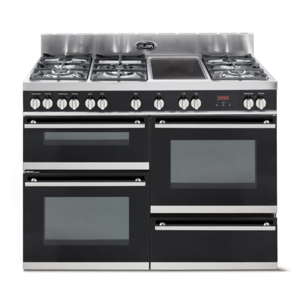 Elba 1200mm 5 Burner  Gas Stove with Vitroceramaic Griddle & Electric Oven