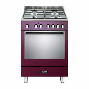 Elba 60cm Fusion 4 Gas Hobs With Electrictric Oven - Red