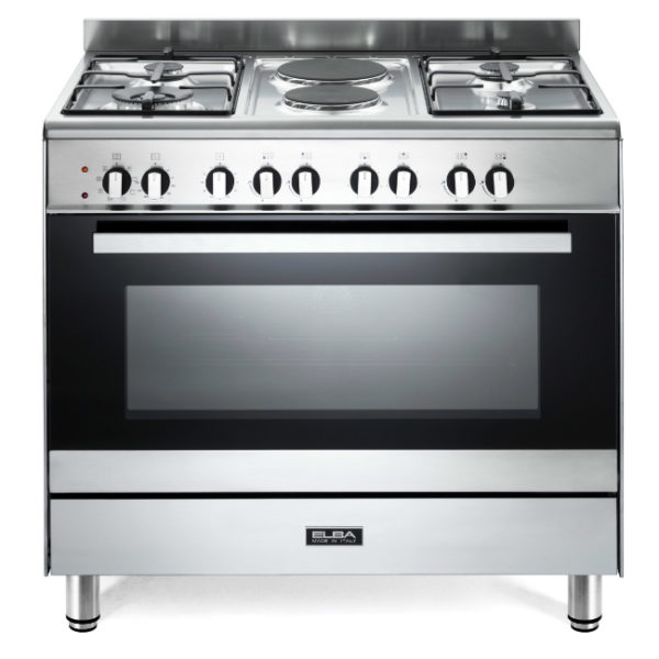 Elba 90cm 4 Gas Burners With 2 Electric & Electric Oven