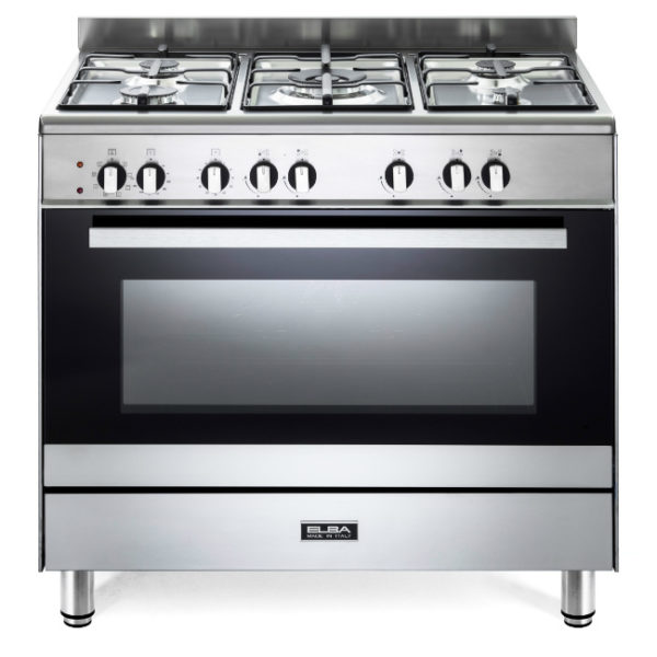 Elba 90cm 5 Gas Burners With Electric Oven