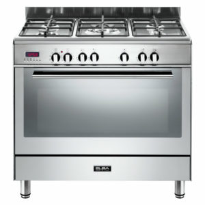 Elba 90cm Fusion 5 Gas Burners & Electric Oven Stainless Steel