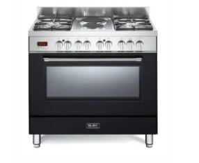 Elba 4 Gas Burners With 2 Electrictric & Electric Oven - Black