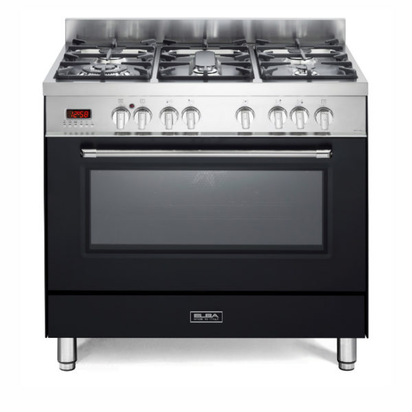 Elba 5 Gas Burners With Electric Oven - Black