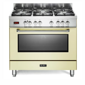 Elba 5 Gas Burners With Electric Oven - Creme