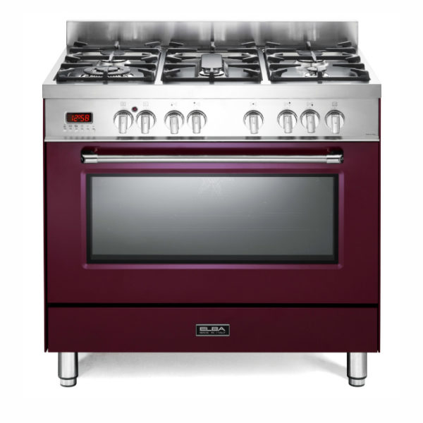 Elba 5 Gas Burners With  Electric Oven - Red