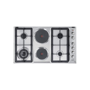 Elba 90 cm 4 Gas Burner with 2 Electric Plate Hob