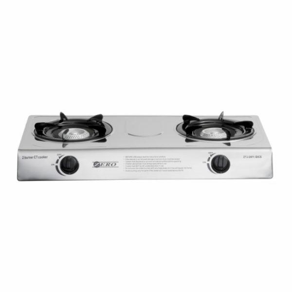 Zero Appliances Stainless Steel 2 Burner Gas Cooker