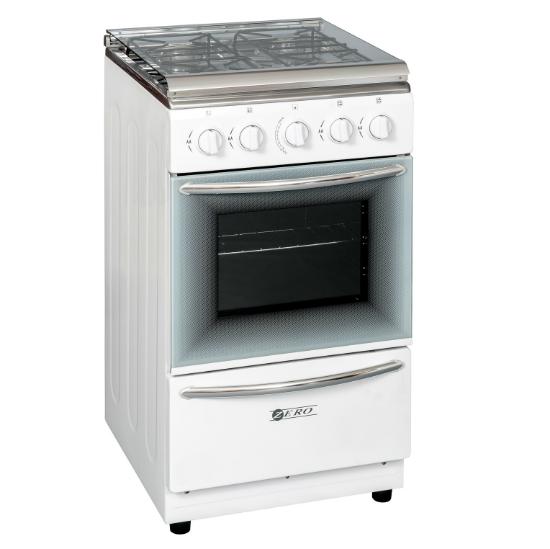 Zero Appliances 4 Burner White Gas Stove