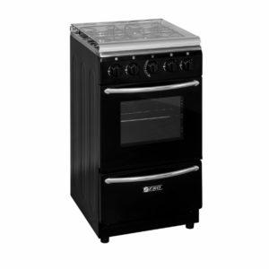 Zero Appliances 4 Burner Black Gas Stove