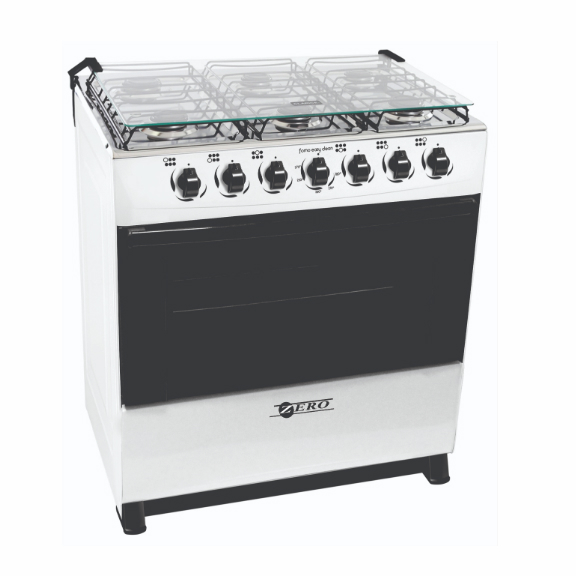Zero Appliances 6 Buner Gas Stove - White