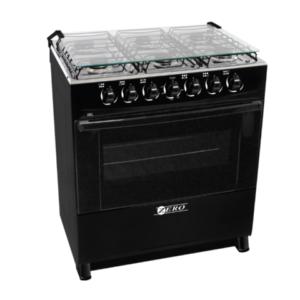 Zero Appliances 6 Burner Gas Stove – Black