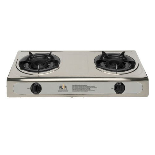Alva 2Burner Stainless Steel Gas Stove