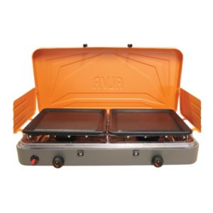 Alva 2Burner Gas Stove with solid plates