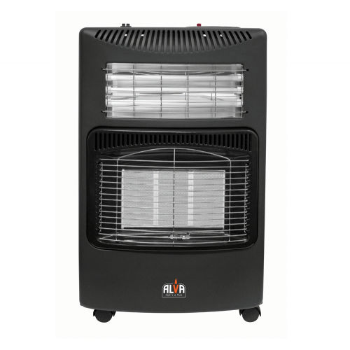 ALVA 3PANEL GAS/ELECTRIC HEATER - Black