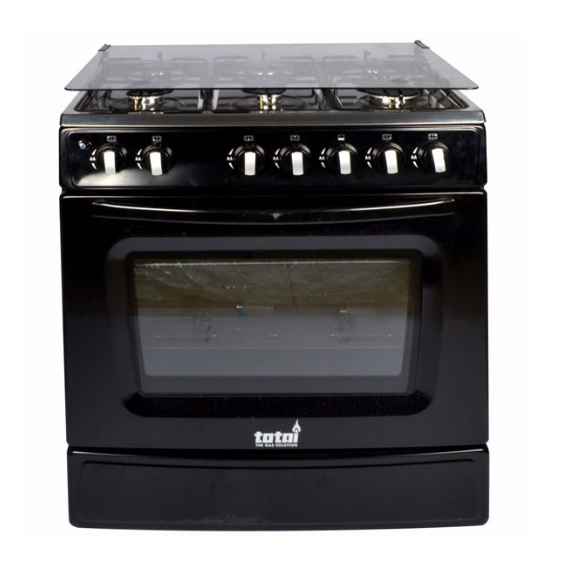 TOTAI 6 BURNER GAS STOVE + OVEN WITH FFD-BLACK