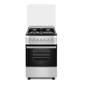Ferre 4 Burner Gas Stove With Gas Oven & Ffd 50 X 60 - Silver