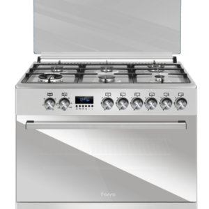 Ferre 6 Burner Gas Stove (1 Wok & 1 Mini Wok) With Electric Oven & Grill With Ffd 90 X 60 – Stainless Steel