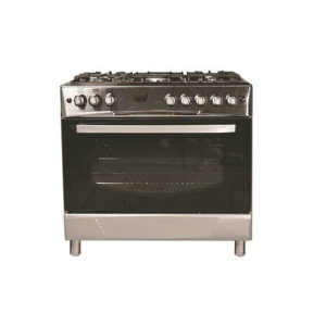 TOTAI 5 BURNER GAS + GAS OVEN STAINLESS STEEL