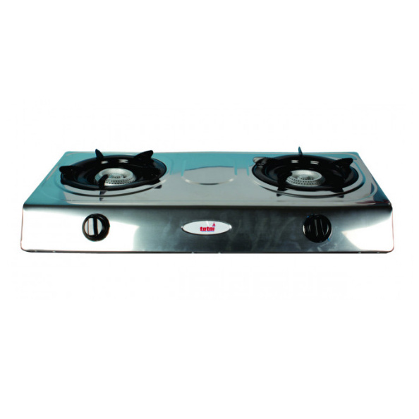 TOTAI 2 PLATE STAINLESS STEEL GAS HOT PLATE