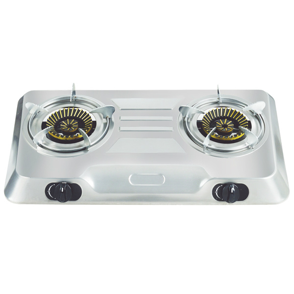 TOTAI 2 BURNER STAINLESS STEEL AUTO IGNITION