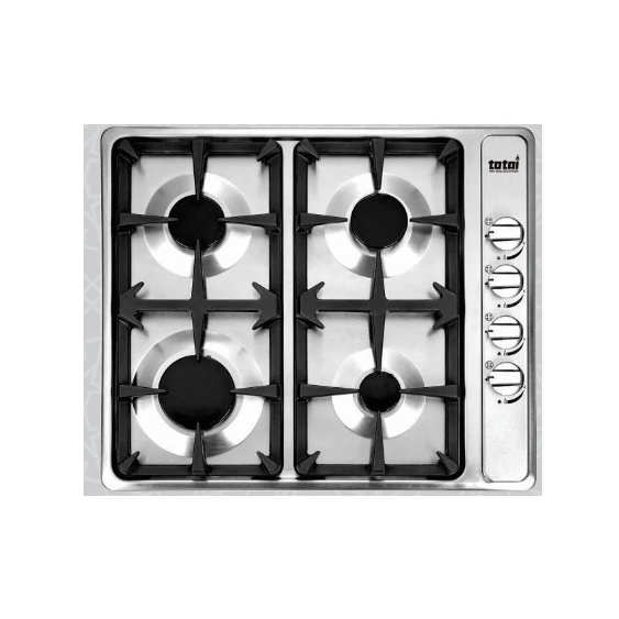 TOTAI 4BURNER GAS HOB WITH CAST IRON GRIDS