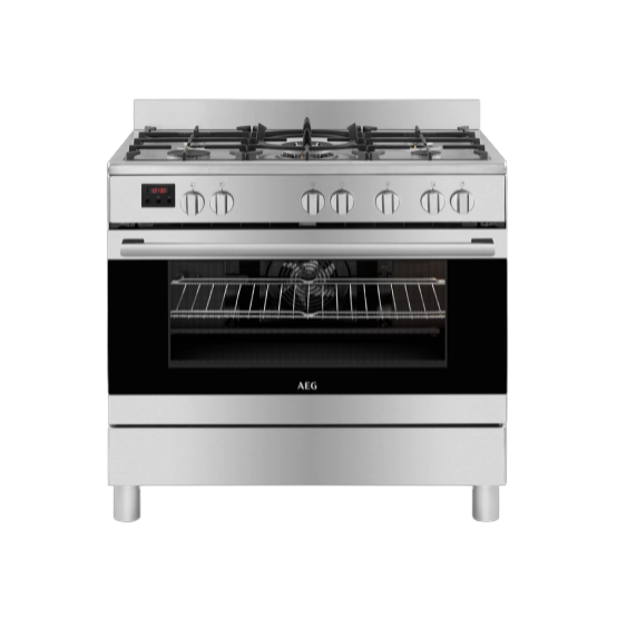 AEG 5 Burner 90cm Gas Stove With Electric Oven