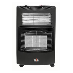 Alva 3 Panel Gas/Electric Heater - Black