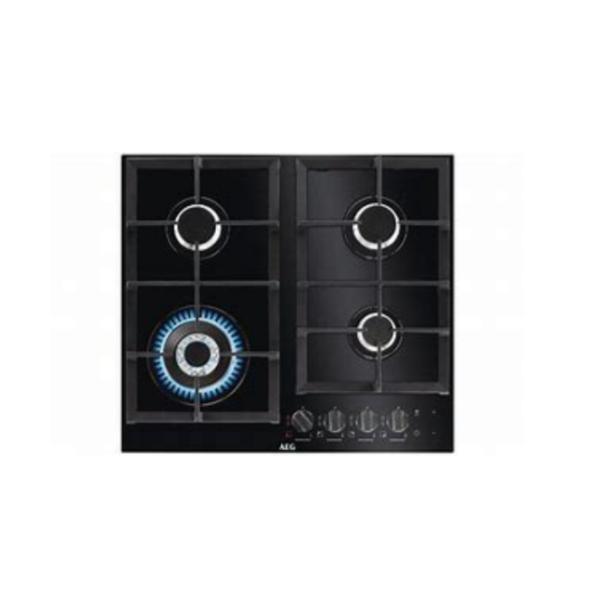 AEG 60cm 4 Burner Black Gas on Glass Hob